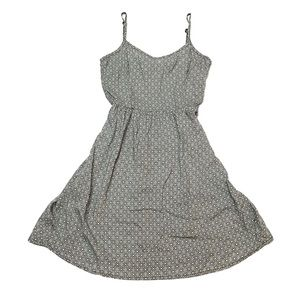 Divided Diamond Print Summer Mini Dress